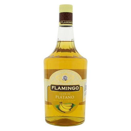 Licor de Crema de Platano 1 Lt Flamingo