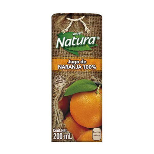Jugo100%NaranjaNatura200ml