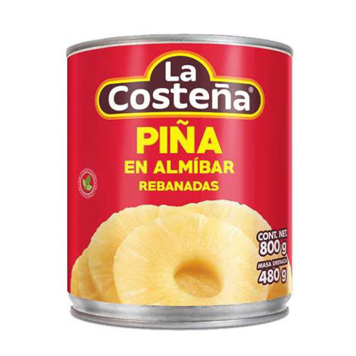 PiñaRebanadaLata800grLaCosteña