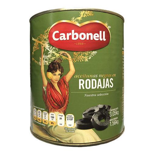 Aceituna Negre En Rodajas Carbonell 3 Kg